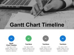 Gantt Chart Timeline Ppt Powerpoint Presentation Gallery Example Cpb
