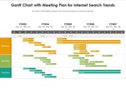 Gantt Chart With Meeting Plan For Internet Search Trends