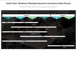 Gantt Chart Workforce Planning Proposal For Insurance Claim Process