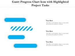 Gantt Progress Chart Icon With Highlighted Project Tasks