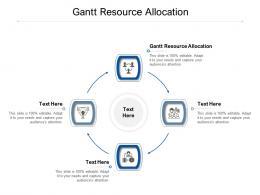 Gantt Resource Allocation Ppt Powerpoint Presentation Professional Sample Cpb