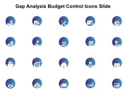 Gap Analysis Budget Control Icons Slide L1198 Ppt Powerpoint Styles