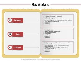 Gap Analysis Data Management Problems Ppt Powerpoint Presentation Outline