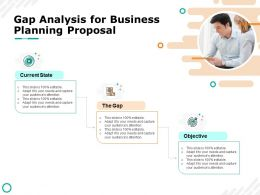 Gap Analysis For Business Planning Proposal Objective Ppt Powerpoint Presentation Visual Aids Deck