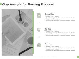 Gap Analysis For Planning Proposal Ppt Powerpoint Presentation Layouts Show