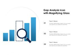 Gap Analysis Icon With Magnifying Glass
