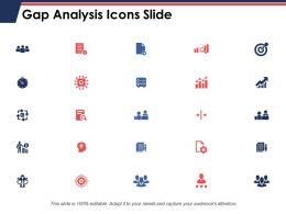 Gap Analysis Icons Slide Growth Arrow C406 Ppt Powerpoint Presentation Styles Grid
