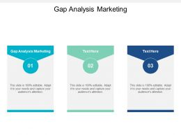 Gap Analysis Marketing Ppt Powerpoint Presentation Layouts Aids Cpb