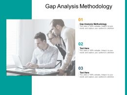 Gap Analysis Methodology Ppt Powerpoint Presentation Icon Summary Cpb