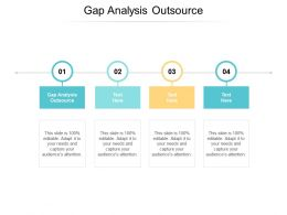 Gap Analysis Outsource Ppt Powerpoint Presentation Pictures Design Templates Cpb