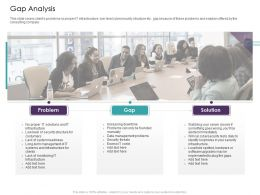Gap Analysis Problem Solution Ppt Powerpoint Presentation Icon Display