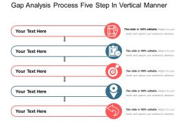 Gap Analysis Process Five Step In Vertical Manner