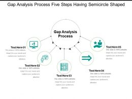 Gap Analysis Process Five Steps Having Semicircle Shaped