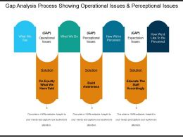Gap Analysis Process Showing Operational Issues And Perceptional Issues 1