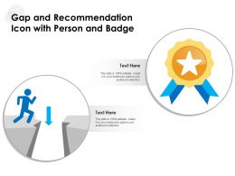 Gap And Recommendation Icon With Person And Badge