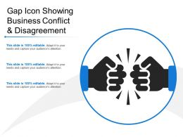 Gap Icon Showing Business Conflict And Disagreement
