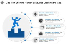 Gap Icon Showing Human Silhouette Crossing The Gap