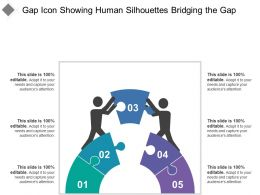 Gap Icon Showing Human Silhouettes Bridging The Gap