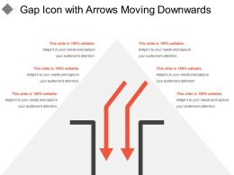 Gap Icon With Arrows Moving Downwards