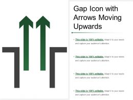 Gap Icon With Arrows Moving Upwards