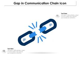 Gap In Communication Chain Icon