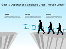 Gaps And Opportunities Employee Cross Through Ladder