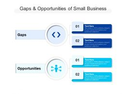 Gaps And Opportunities Of Small Business