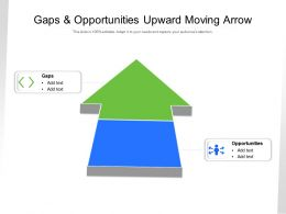 Gaps And Opportunities Upward Moving Arrow