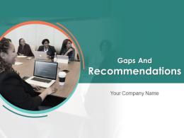 Gaps And Recommendations Business Customers Strengths Market Growth Arrows Technology