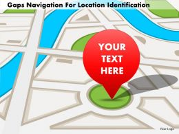 Gaps Navigation For Location Identification Powerpoint Template