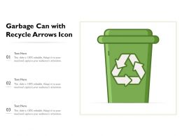 Garbage Can With Recycle Arrows Icon
