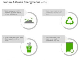 Garbage Dump Recycling Paper Reuse Bin Ppt Icons Graphics