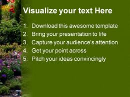 Garden Nature PowerPoint Template 0610  Presentation Themes and Graphics Slide02
