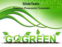 Garden Nature Powerpoint Templates Go Green Business Ppt Slides
