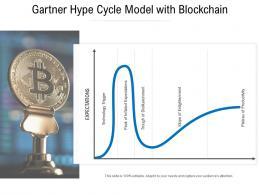 Gartner Hype Cycle Model With Blockchain