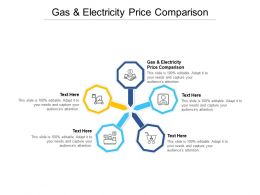 Gas And Electricity Price Comparison Ppt Powerpoint Presentation Summary Rules Cpb
