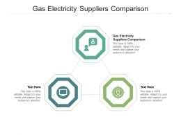 Gas Electricity Suppliers Comparison Ppt Powerpoint Presentation Icon Graphic Tips Cpb