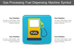 Gas Processing Fuel Dispensing Machine Symbol