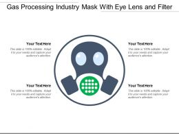 Gas Processing Industry Mask With Eye Lens And Filter