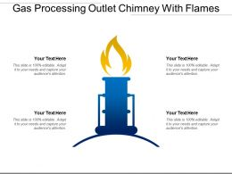 Gas Processing Outlet Chimney With Flames