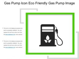 Gas Pump Icon Eco Friendly Gas Pump Image