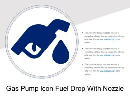 Gas Pump Icon Fuel Drop With Nozzle