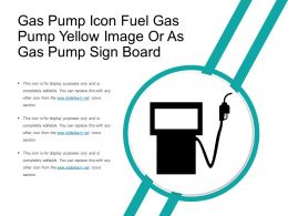 Gas Pump Icon Fuel Gas Pump Yellow Image Or As Gas Pump Sign Board