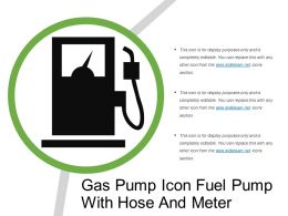 Gas Pump Icon Fuel Pump With Hose And Meter