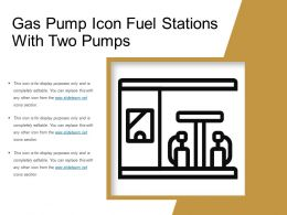 Gas Pump Icon Fuel Stations With Two Pumps