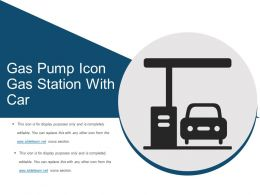 Gas Pump Icon Gas Station With Car