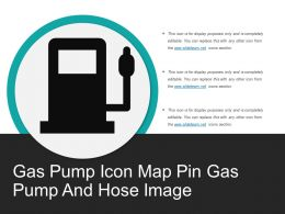 Gas Pump Icon Map Pin Gas Pump And Hose Image