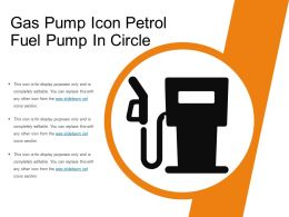 Gas Pump Icon Petrol Fuel Pump In Circle