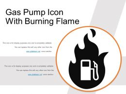 Gas Pump Icon With Burning Flame