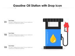 Gasoline Oil Station With Drop Icon
